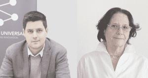 Victor Gine, CEO de Oryon Universal y Regina Llopis, Presidenta de WA4STEAM